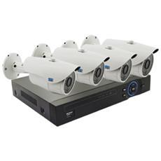 Kit Videosorveglianza Ip 4 Telecamere 1080P, Nvr Hd