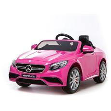 Auto Elettrica Mercedes Sl 63 Amg Rosa Con Luci, Suoni E Telecomando 12 Volt 500 / re