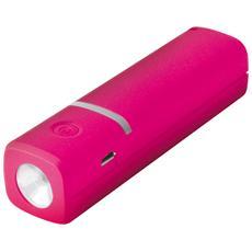 Li-Ion 2600mAh, Ioni di Litio, USB, Rosa, micro USB, Universale, Micro-USB