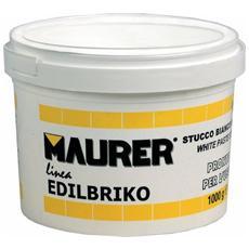 Stucco in Pasta 0,5 Kg Maurer per stuccatura su muro, legno e superfici porose