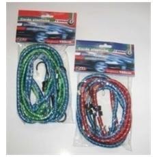 Corde elastiche con gancio in ferro mm. 8 cm. 150 SET 2pz.