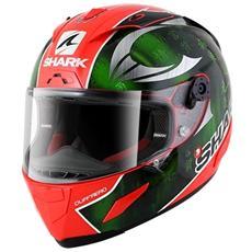 Casco Integrale Race-r Pro Sykes Xs Rosso / verde / cromo