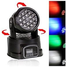 Testa Mobile Rotante 18 Led 12 Ch. Dmx Rgb Art. Shard18198