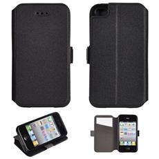 Custodia Slim Tipo Libro Bc3 Per Apple Iphone 5 5s- Nero