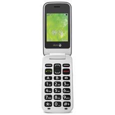 "2414 Display 2.4"" +Slot MicroSD Bluetooth Fotocamera Tasti Grandi Colore Acciaio Bianco-Europa"