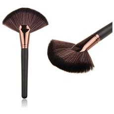 Pennello Ventaglio Trucco Viso Cipria Donna Make Up Makeup Brushes