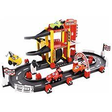 ECF7600003042 Abrick Garage e Pista F1, con 4 veicoli