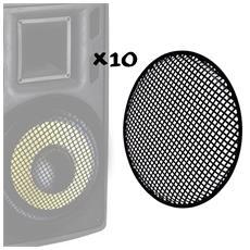 "10 Griglie Di Protezione Pack Per Altoparlanti Da 10 """" / 25 Centimetri"