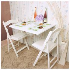 Tavolo Da Muro Pieghevole In Legno 75*60cm, Bianco, senza Sedia, Fwt01-w