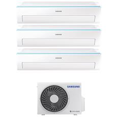 Condizionatore Fisso Multisplit AJ050/2x09+12NWR New Triangle Potenza 9000+9000+12000 BTU / H Classe A++ / A+ Inverter e Wi-Fi