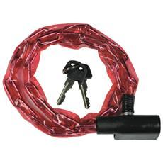 Catena con lucchetto a scatto per cicli Cm 60 2 chiavi in dotaione