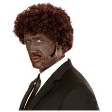 Parrucca Pulp Afro Con Baffi E Basette