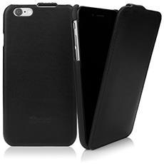 Leather Flip iPhone 6s, Italian nero