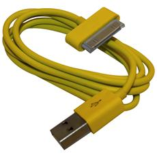 Cavo Caricabatterie Da 30 Pin A Usb - Giallo - Apple Iphone 4 4s Ipad Ipod