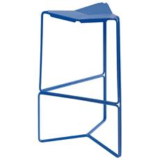 Sgabello Acciaio Stool Tall Blu