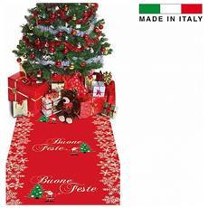 Tappeto Buone Feste Natale 1x5mq Natalizia Passatoia Cerimonia Chiesa Evento
