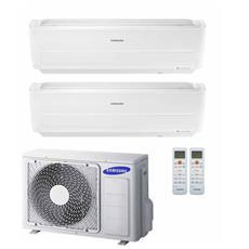 Condizionatore Fisso Dualsplit AJ050/2x12NXD WindFree Potenza 12000+12000 BTU / H Classe A++ / A++ Inverter e Wi-Fi