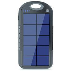 LiPo 4000mAh, Polimeri di litio (LiPo) , Solare, Nero, USB, Universale, Micro-USB