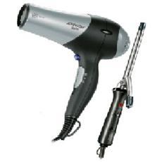 BELLO & RICCIOLO Phon Asciugacapelli Professionale e Arricciacapelli Potenza 2200 Watt Colore Grigio / Nero