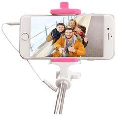 Asta per Selfie con Cavo per Smartphone Colore Rosa