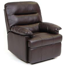 Poltrona relax manuale reclinabile da interno marrone