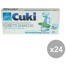 Set 24 Sacchi Cubetti Ghiaccio X 10 Pezzi Contenitori Per La Cucina
