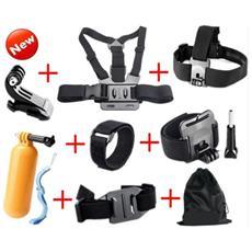 Kit Set accessori per Action Cam 8 in 1 Universale