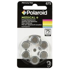 1x6 Polaroid Zinc Air 675 Pile per apparecchi acustici