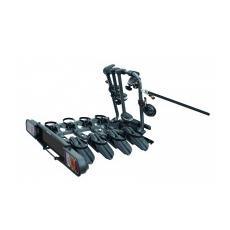 Portabici posteriore da gancio di traino Como acciaio nero 4 bici reclinabile richiudibile Pure Instinct anche Fat Bike
