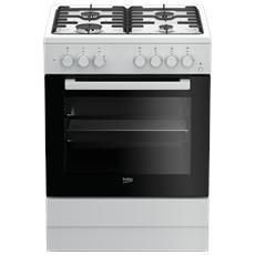 Cucina Elettrica FSST62110DW 4 Fuochi A Gas Forno Elettrico Classe A Colore Bianco