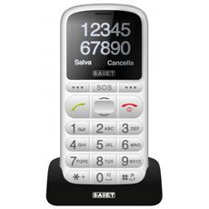 """Pronto Max Senior Phone colore Bianco Display 1.8"""" Bluetooth con Tasti Grandi + SOS - Europa"""