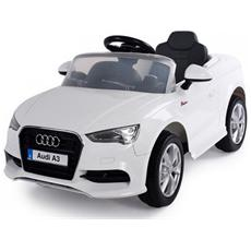 Auto Elettrica Audi A3 Bianca Con Luci, Suoni E Telecomando 12 Volt 99852 / wh
