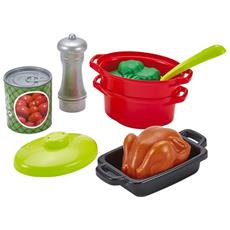 ECF7600002649 100% Chef Set stoviglie da cucina con fornello 21 pz