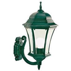 Applique in alto con vetro molato lampada da parete nero-verde