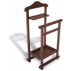 Appendiabito indossatore porta abiti legno massello varie finiture nuovo modello elegance da camera