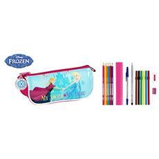 Astuccio Portapenne Scuola Frozen 17 Piece Pencil Case Nordic Summer 20 Cm