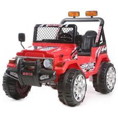 Auto Elettrica Jeep Safari Rossa Con Luci, Suoni E Telecomando 12 Volt 618 / re
