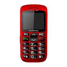 "Big200s Senior Phone Display 2.2"" Tasti Grandi Colore Rosso"