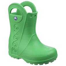 CROCS - Handy The Rain Stivali Da Pioggia Bambini (27-28 Childs Eu) (verde  Erba) 5397039bccb