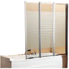 Parete vasca box doccia in cristallo serigrafato H140x130