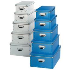 Set Scatole in Polipropilene Formato 40x30x17 cm Blu