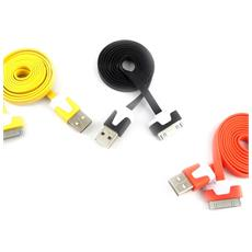 3 cavi usb 'coloriage' ipad iphone (nero arancio giallo) - [ k9276]