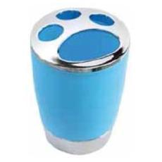 Portaspazzolino in polipropilene azzurro modello Capri