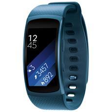 "Gear Fit2 Impermeabile Misura L Display 1.5"" Memoria 4GB Wi-Fi Bluetooth funzione Personal Trainer GPS + Lettore Musicale per Android - Blu"