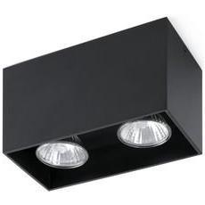 Proiettore Barcellona Tecto 63273-plafoniera, 50 W, Corpo In Alluminio, Colore: Nero