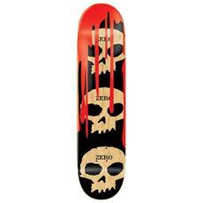 Skateboard 3 Skulls Blood Nero Rosso Taglia Unica