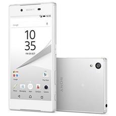 "Xperia Z5 Bianco 32 GB 4G / LTE Dual Sim Impermeabile Display 5.2"" Full HD Slot Micro SD Fotocamera 23 Mpx Android Europa"