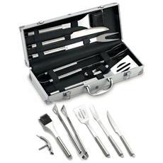 Set Valigetta In Alluminio Da 6 Pezzi In Acciaio Inox. Misura: Cm. 42 - 06420