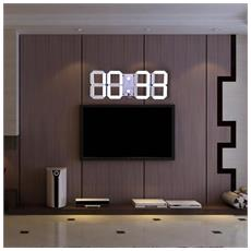 Telecomando Digitale Led Orologio Da Parete Allarme Cronometro Termometro Calendario Countdown
