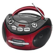 Radio Stereo SR 4353 Lettore CD / Audiocassette Supporta MP3 Display LCD Sintonizzatore FM colore Rosso / Antracite